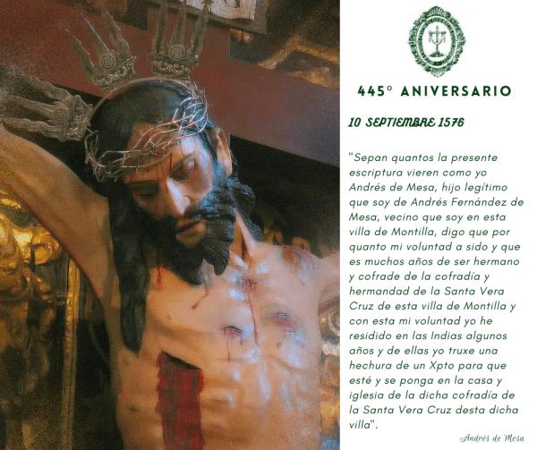 El Cristo de Zacatecas, 445 años entre los montillanos
