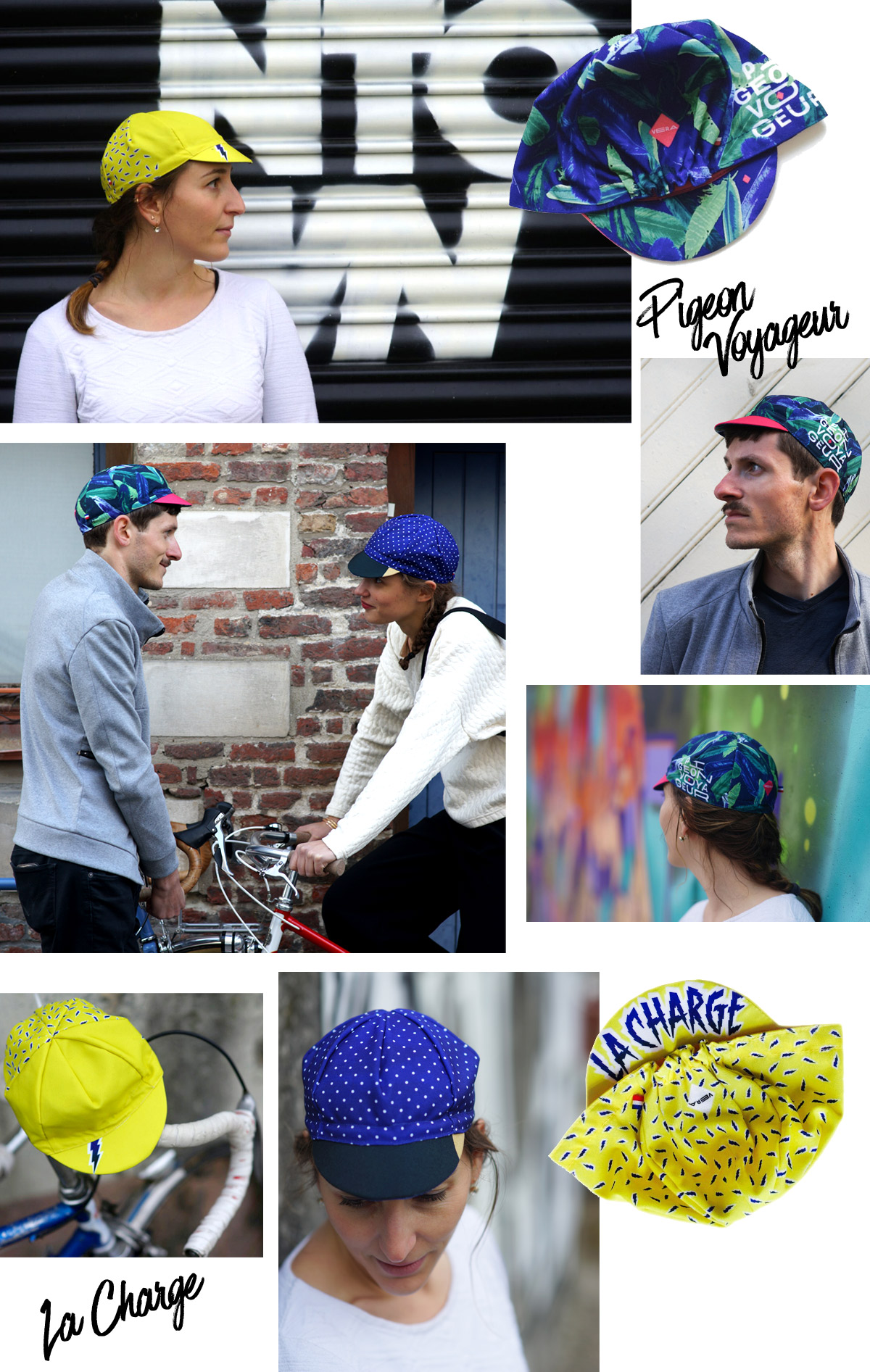 Lookbook 2017 Vera cycling casquettes vélo mode