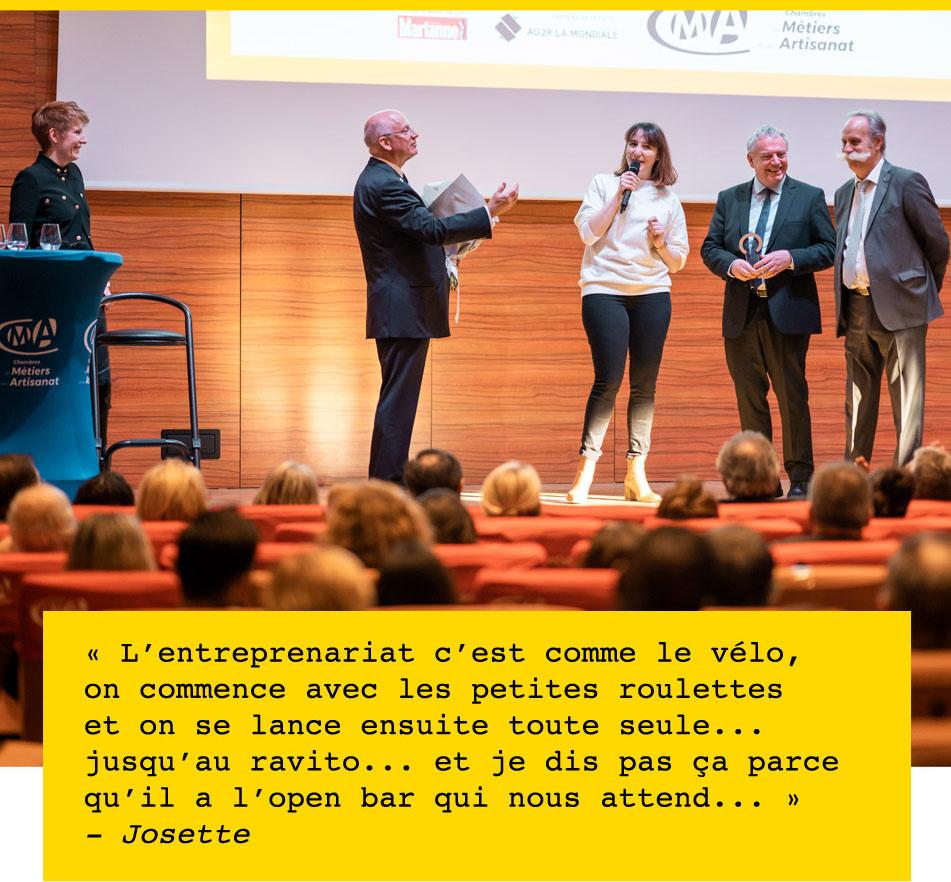 Madame Artisanat Vera Cycling Madame Engagée 2020 speech