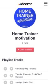 Home trainer deezer playlist