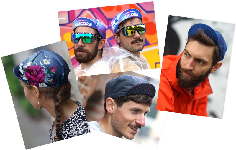 VERA cycling caps hand made in france