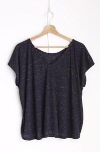 Ablesia Kimono Sleeve Blue Melange t-shirt