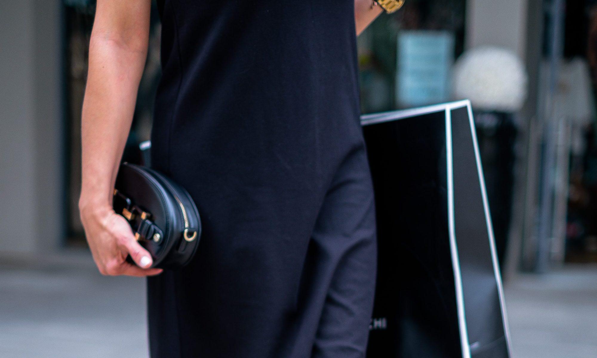 litle black dress, black box and black bag