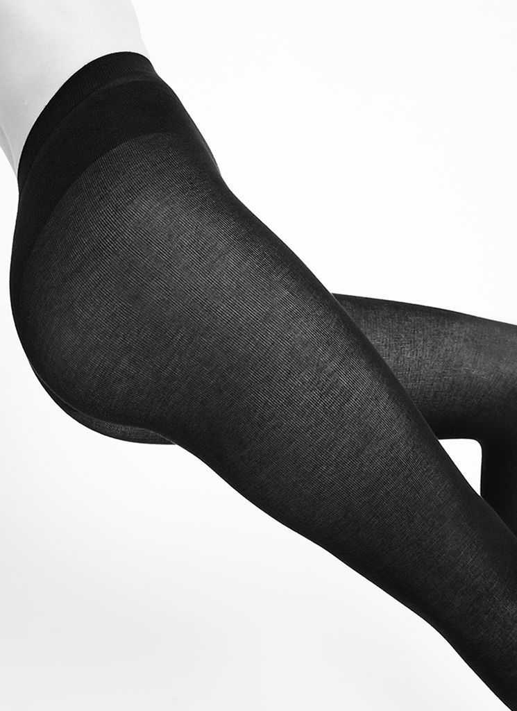 Swedish Stockings sustainable brand of hosery a pair of cashemere black leggings