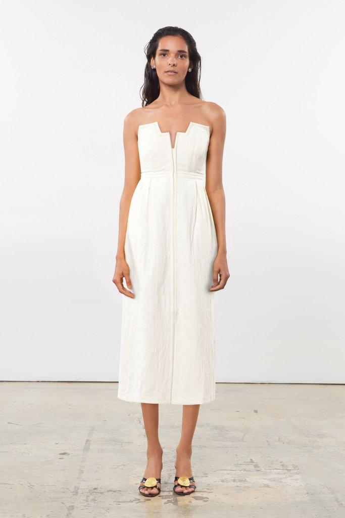 Woman wearing Mara Hoffman Aurelia Dress
