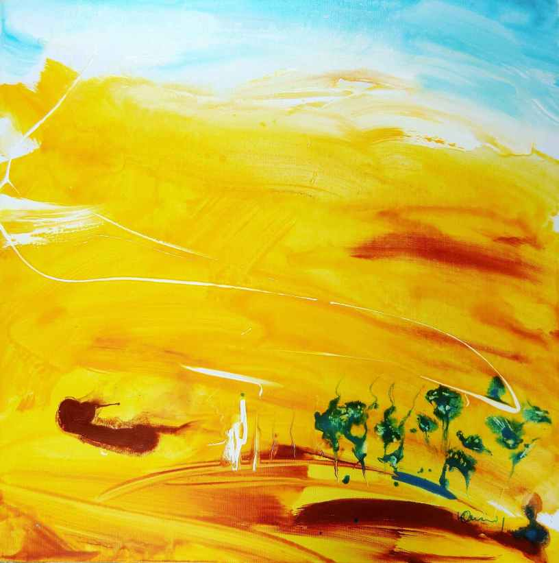 No. 353 Acrylic on canvas 60x 60 cm