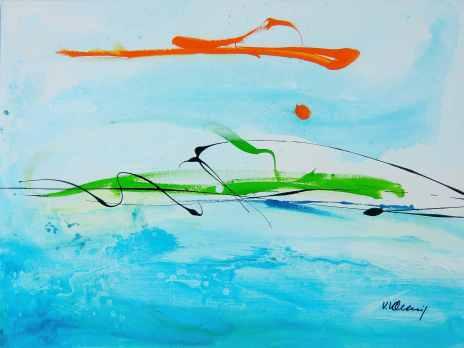 No. 349 Acrylic on canvas 60x 80 cm