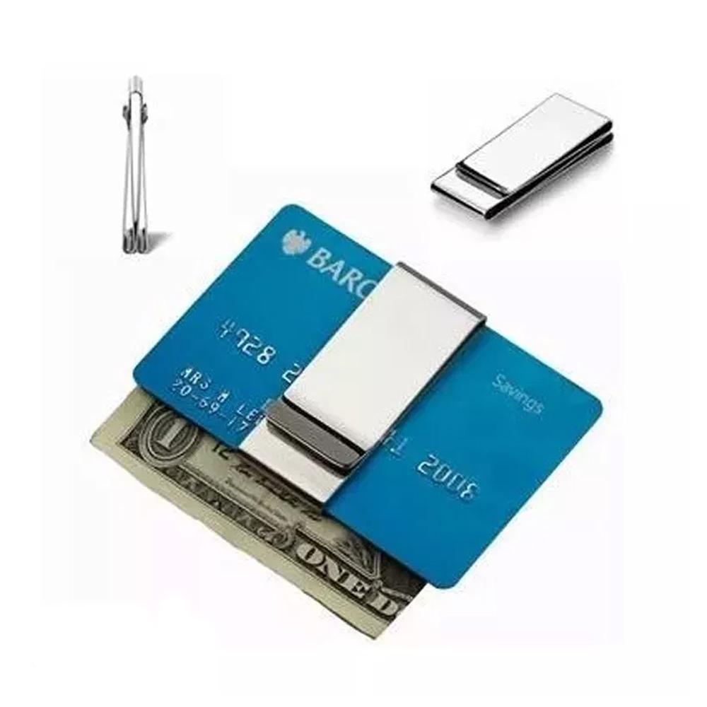 Clip Para Billetes Plateado Tarjetas 3 Divisiones