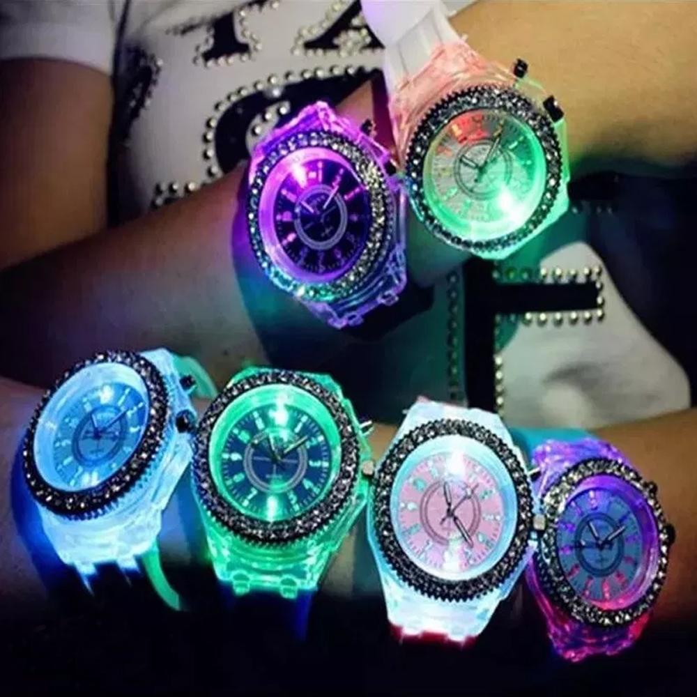 Reloj Led Kawaii Diamond Varios Colores