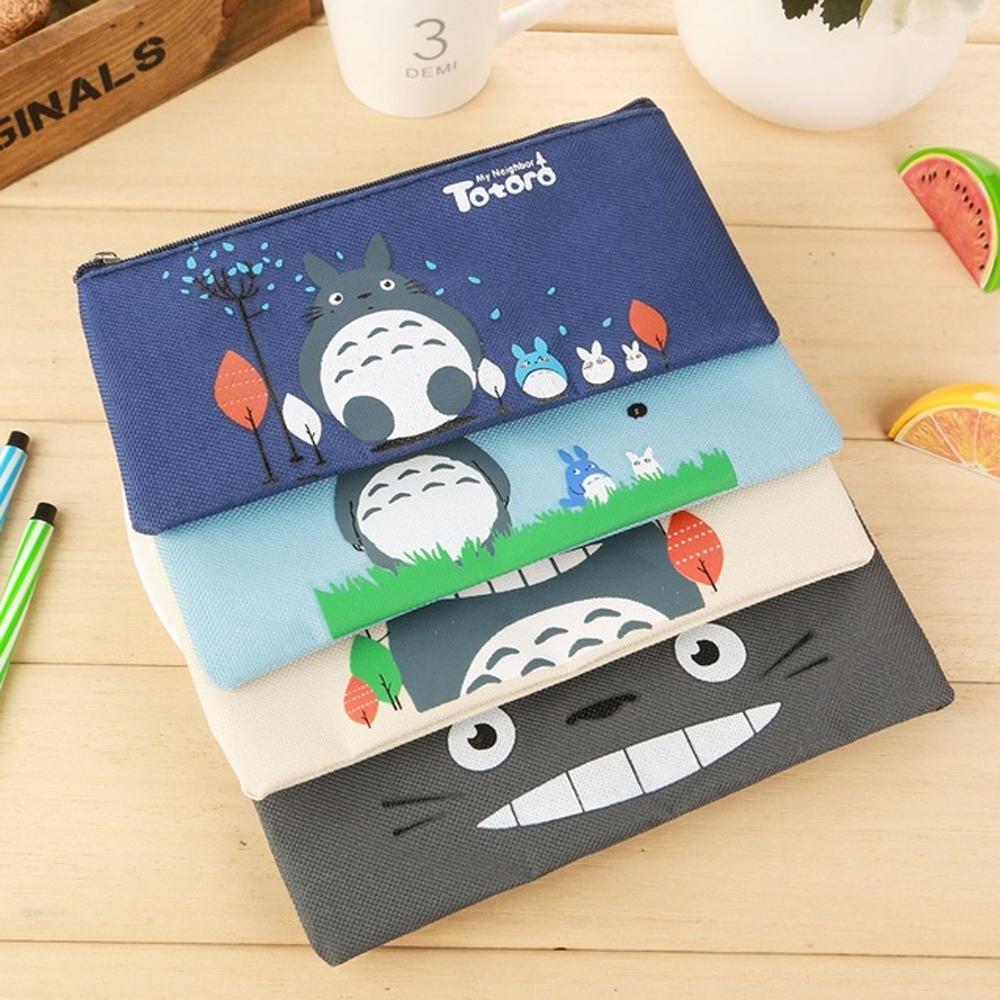 Lapicera Totoro Estuche Kawaii Lona Varios Diseños