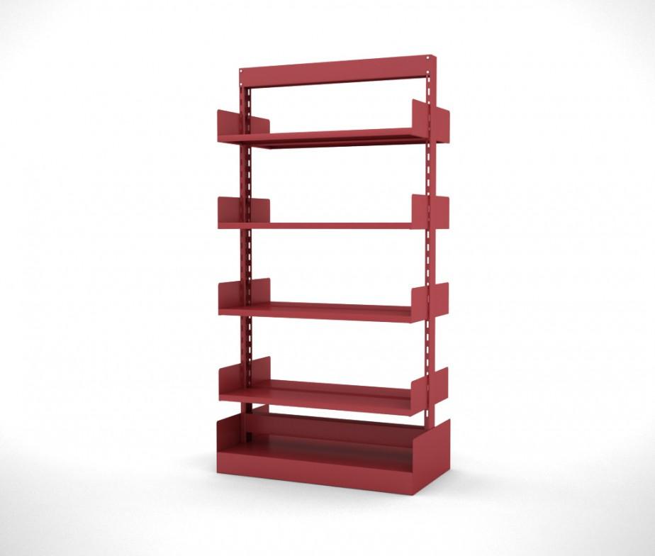 Estante biblioteca dupla face com base 8 prateleiras for Biblioteca maxxi