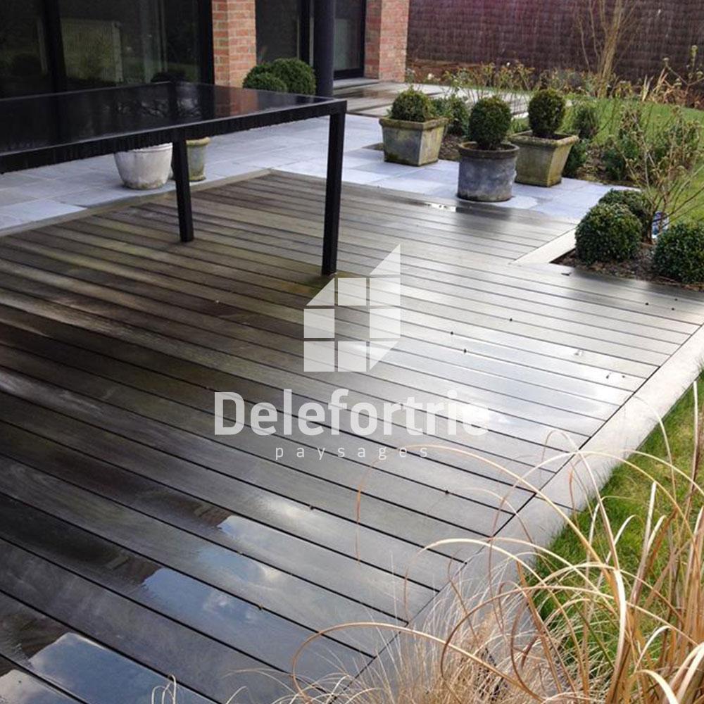 terrasse moderne en pierre. Black Bedroom Furniture Sets. Home Design Ideas