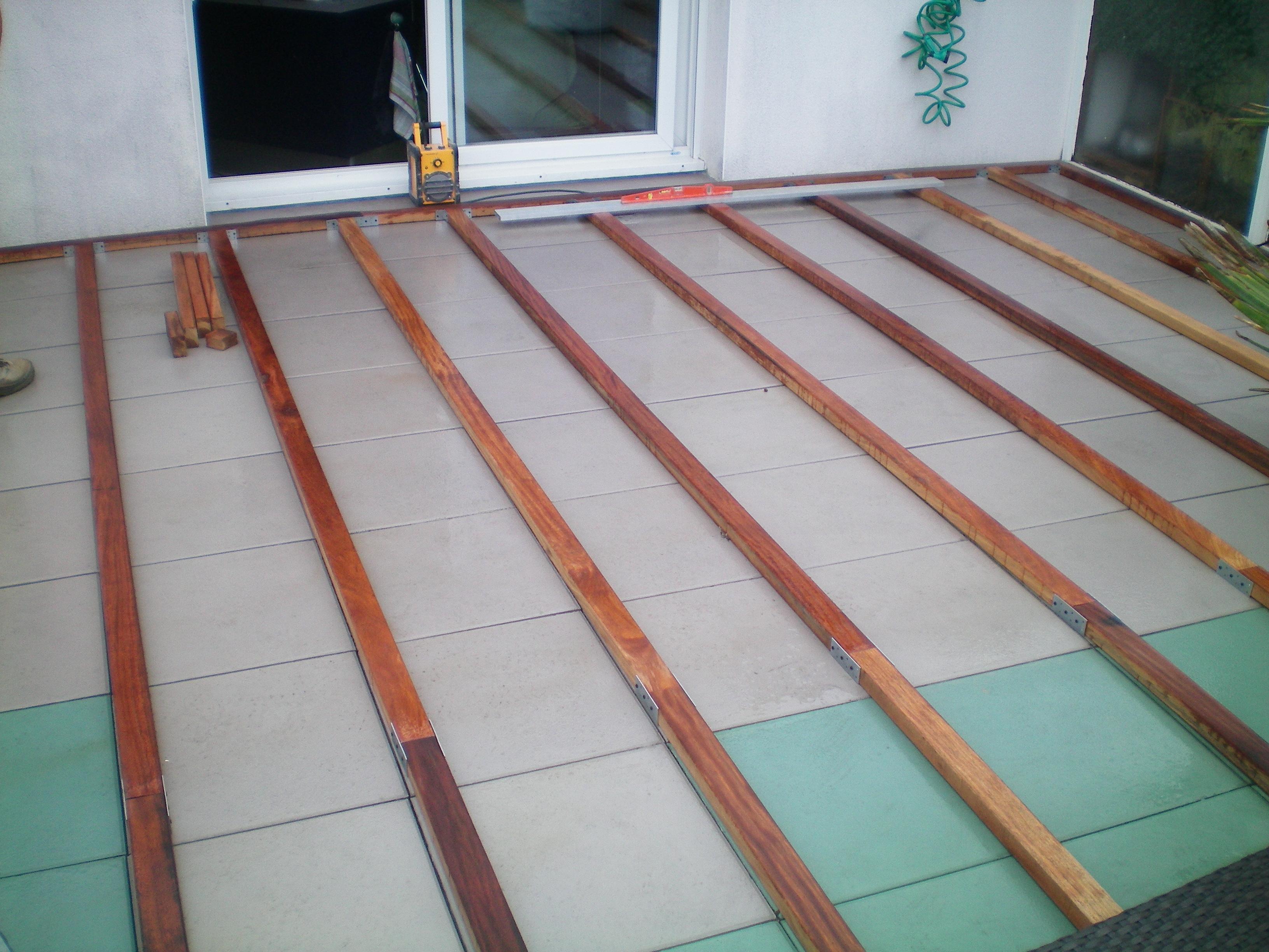 Attirant Installer Une Terrasse En Composite Sur Dalle Beton Veranda