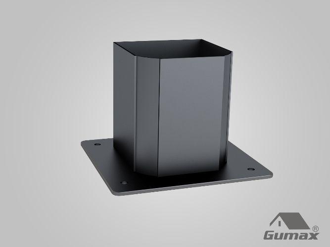 Gumax terrasoverkapping - staander klassiek mat antraciet