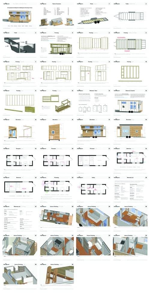 bouwtekeningen tiny house