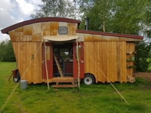 tiny house te huur op agrarische grond