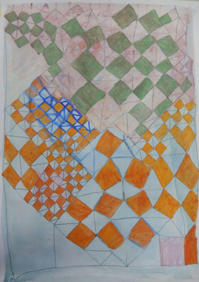 Nature's Structures 6 Eitempera op papier 30 x 42 cm