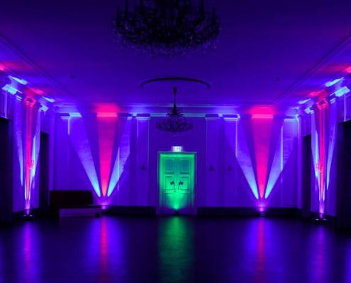 Vermietung Von LED Scheinwerfer Und Akku Betriebenen LED Spots