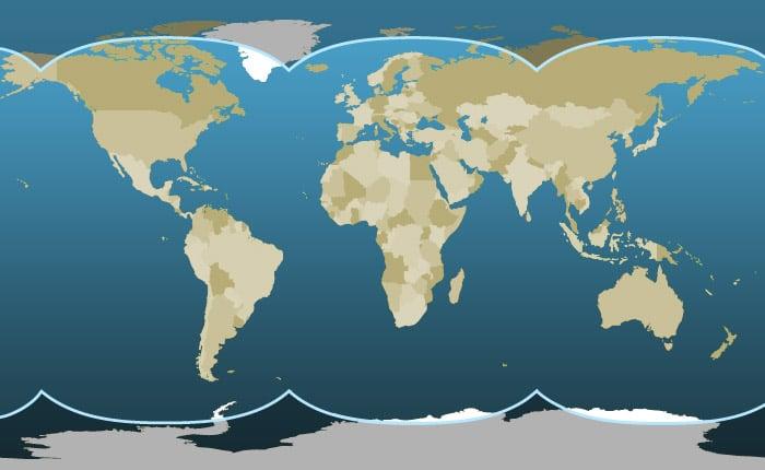 Inmarsat map
