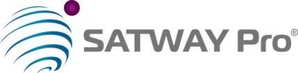 Logotipo aplicación móvil servicio mensajería satélite