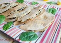 Chicken, Spinach & Ricotta Quesadillas/ Vera's Cooking/ Verascooking.com/
