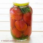 Marinated Tomatoes/ Vera's Cooking/ Verascooking.com/