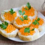 Red Caviar/ Red Caviar Appetizer/ Vera's Cooking/ Verascooking.com
