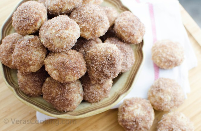 Baked Doughnut Holes/ Vera's Cooking/ Verascooking.com/