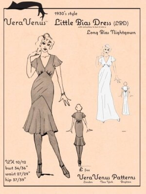 Little Bias Dress pattern cover image