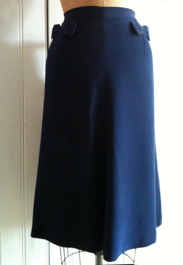 40's Style A-Line Skirt with Bow Detail- personal wardrobe