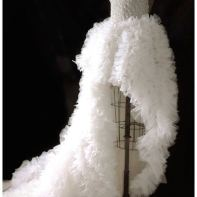 Bespoke wedding dress,30 metres of frills