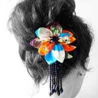 Kimono Fabric hair Clip for Making Magazine