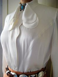 as silk blouse- personal wardrobe