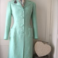 green coat full length