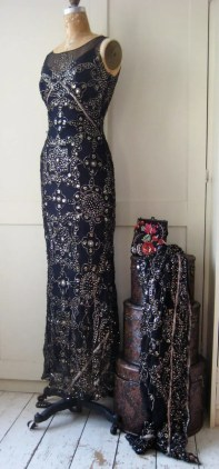 Bias dress from vintage sequinned sari