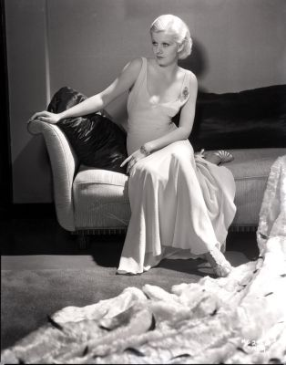 Jean Harlow in gown