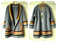 Boiled wool Cardi Coat