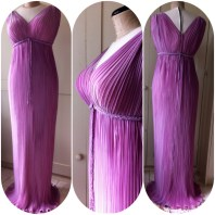 Fortuny style pleated gown for an opera