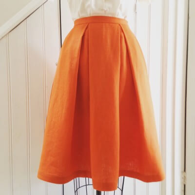 box pleat skirt drafting instructions