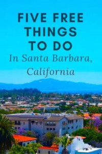 Pinterest Image for Santa Barbara, California article