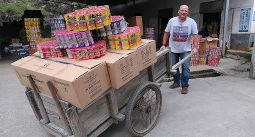 Import vanuit China voor Verbakel Vuurwerk