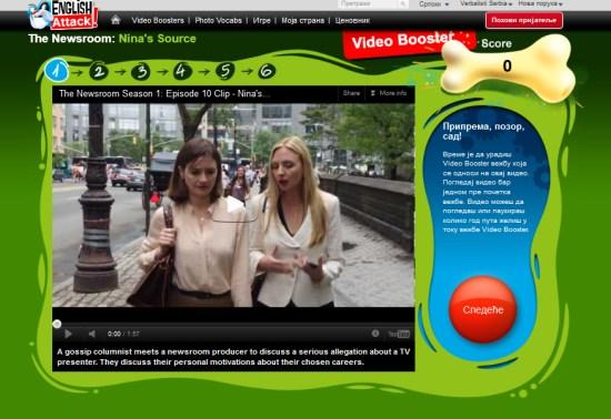 Brzo ucenje engleskog jezika na portalu English Attack! - video Newsroom