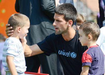 Novak Djokovic s decom
