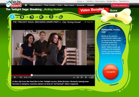 Engleski online, Video Booster The Twilight Saga