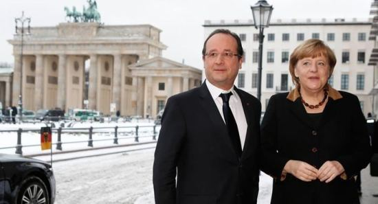 Holand i Angela Merkel