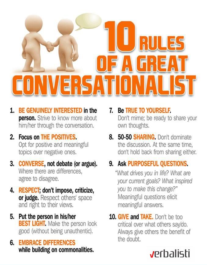 Great conversationalist