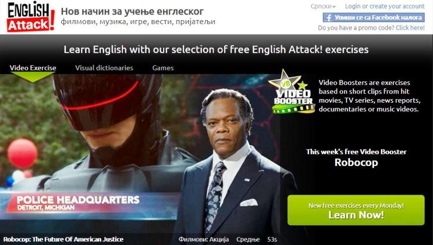 Brzo i lako ucenje engleskog, video lekcija Robocop