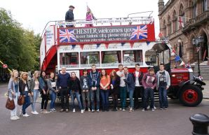 Students of the language network Verbalisti in Chester