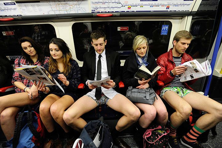 No pants on the subway day