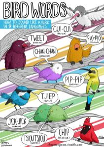 How to sound like a bird in different languages